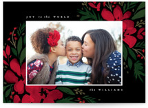 This is a black photo christmas card by Robert and Stella called Brushed Botanicals with standard printing on smooth signature in standard.