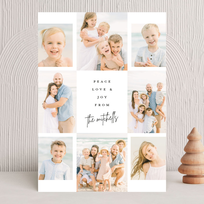 """""""Signed"""" - Christmas Photo Cards in Onyx by Lauren Chism."""