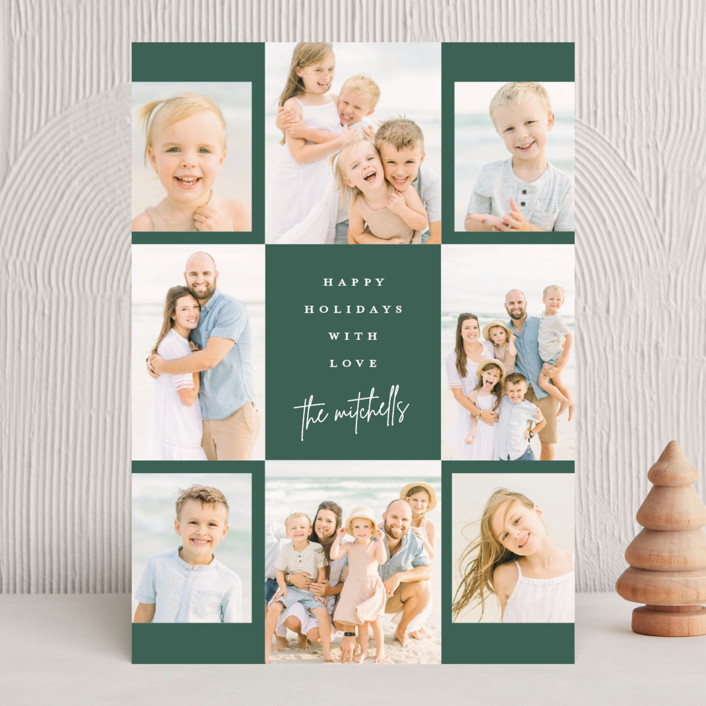 """""""Signed"""" - Christmas Photo Cards in Emerald by Lauren Chism."""