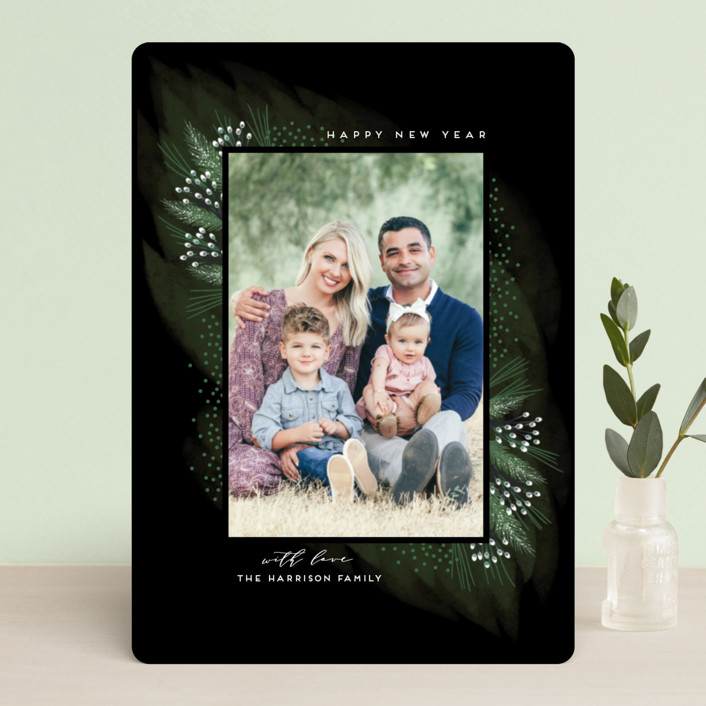 """Charming Christmas"" - Christmas Photo Cards in Midnight by iamtanya."