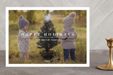 Clean, Simple & Modern Christmas Photo Cards