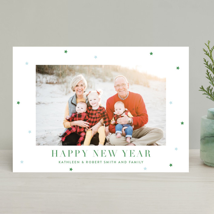"""""""Brightly"""" - Christmas Photo Cards in Boxwood by Toast & Laurel."""