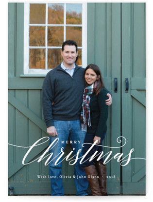 Christmas Scripted Christmas Photo Cards