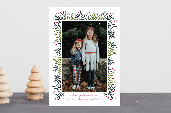 """""""Berry Branches"""" - Christmas Photo Cards in Spruce by Jennifer Postorino."""
