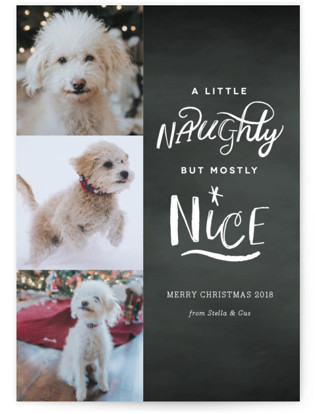 A Little Naughty Christmas Photo Cards