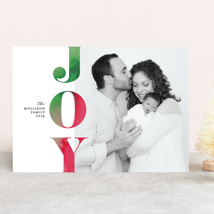 Festive Joy holiday card