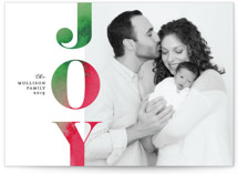 This is a green photo christmas card by Erica Krystek called Festive Joy with standard printing on smooth signature in standard.