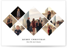 This is a white photo christmas card by Amy Elizabeth called Geometric Diamonds with standard printing on smooth signature in standard.