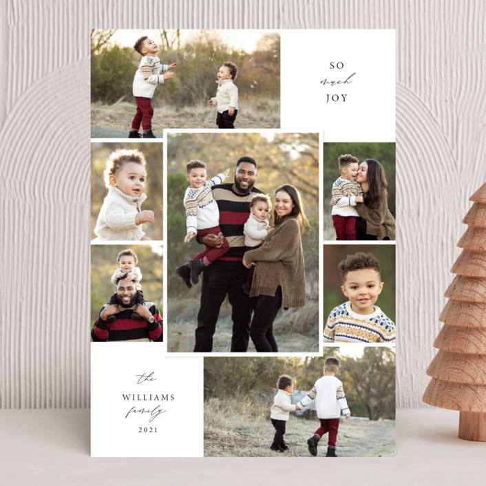 """""""Merry Seven"""" - Vintage Christmas Photo Cards in Snowflake by Holly Whitcomb."""