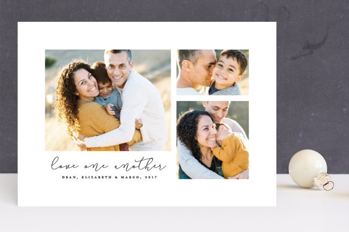 """Love one another"" - Christmas Photo Cards in Classic by Lea Delaveris."