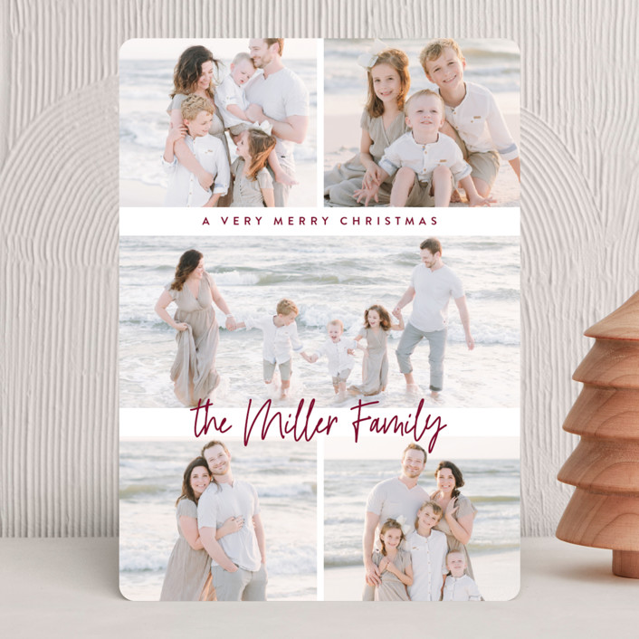 """""""multi merry"""" - Christmas Photo Cards in Ruby by Owl and Toad."""