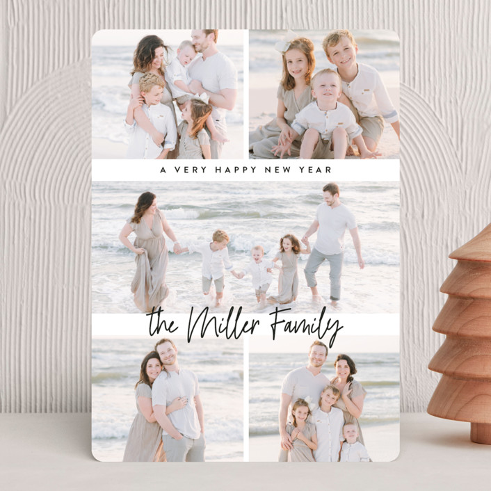 """multi merry"" - Christmas Photo Cards in Onyx by Owl and Toad."