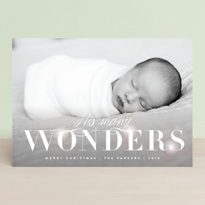 """Glowing Wonder"" - Christmas Photo Cards in Snow by Kristie Kern."