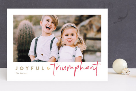 canele Christmas Photo Cards