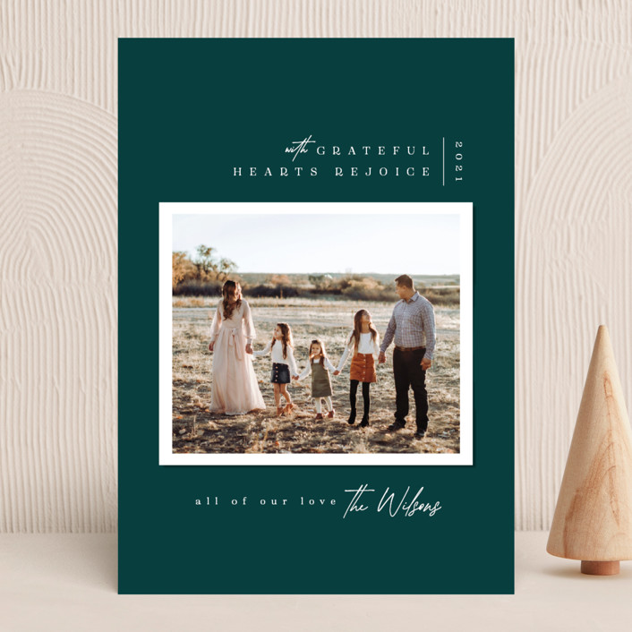 """""""Modern Snapshot"""" - Christmas Photo Cards in Juniper by Owl and Toad."""