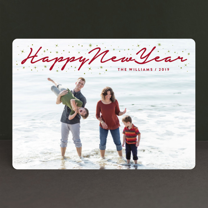 """""""Sparkling Merry Christmas"""" - Christmas Photo Cards in Jolly by fatfatin."""