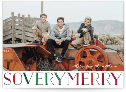 so very merry Christmas Photo Cards