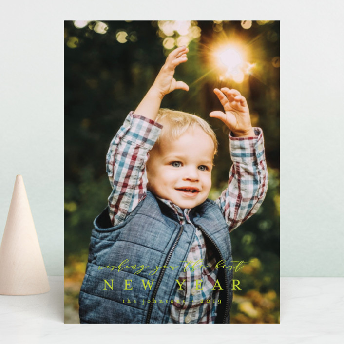 """O come let us"" - Christmas Photo Cards in Coal by peony papeterie."