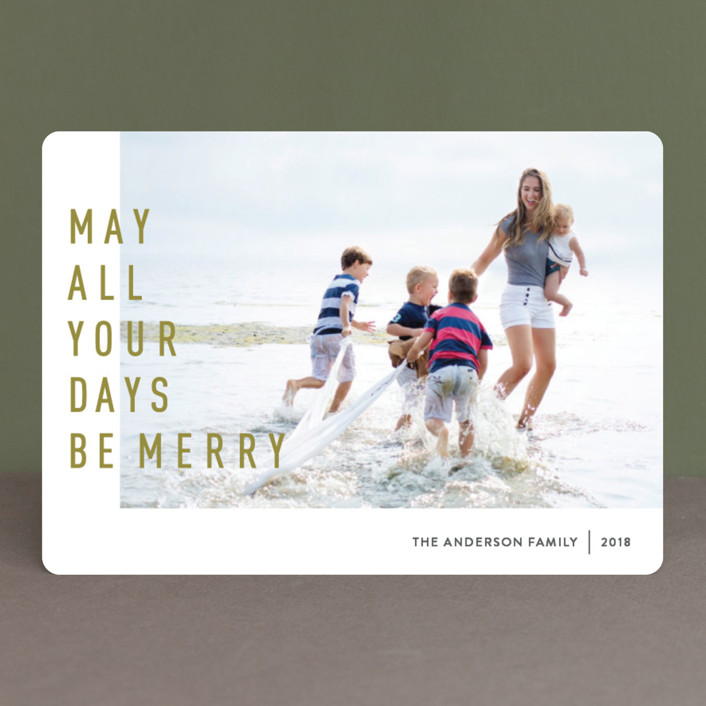 """""""May They Be Merry"""" - Christmas Photo Cards in Spicy by Abby Munn."""