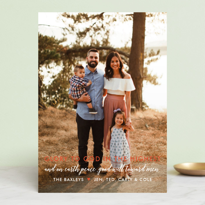 """""""Glory Glory"""" - Christmas Photo Cards in Holly by Krissy Bengtson."""