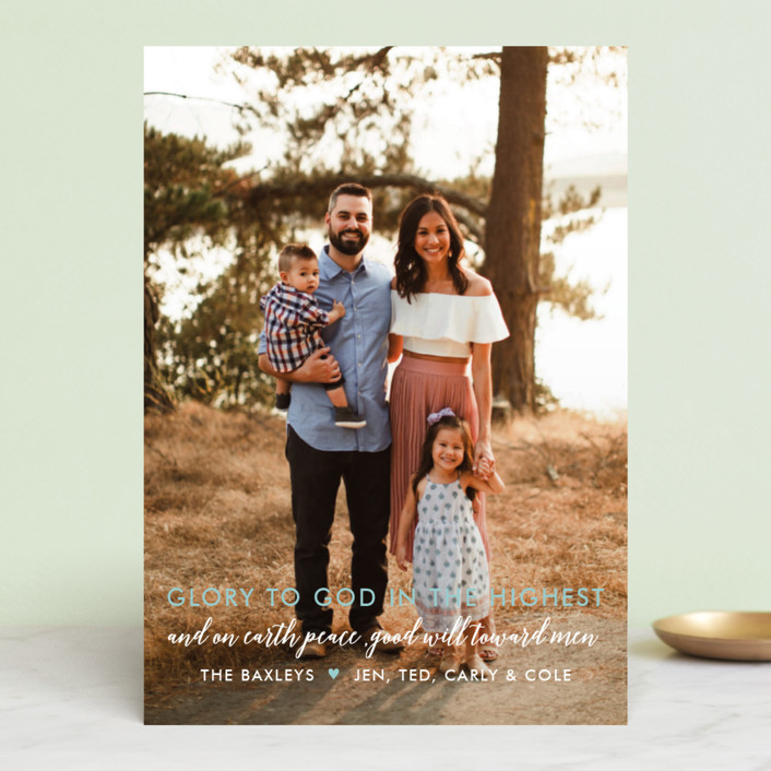 """Glory Glory"" - Christmas Photo Cards in Holly by Krissy Bengtson."