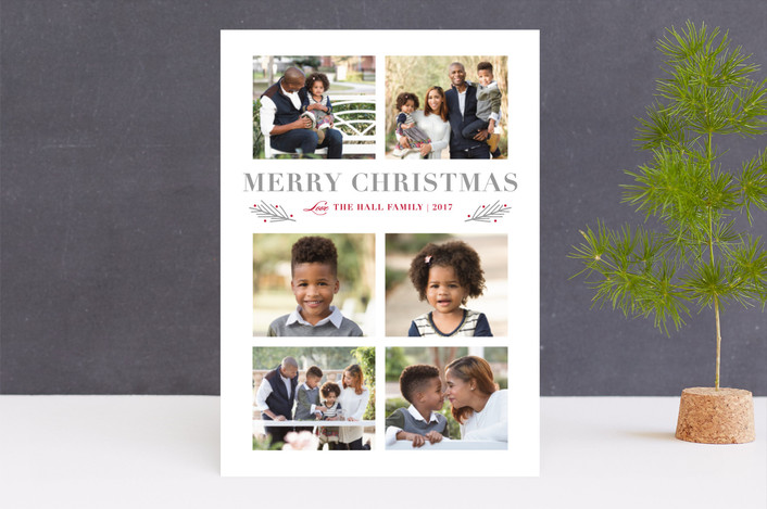 """Wondrous"" - Christmas Photo Cards in Grey by Stacey Meacham."