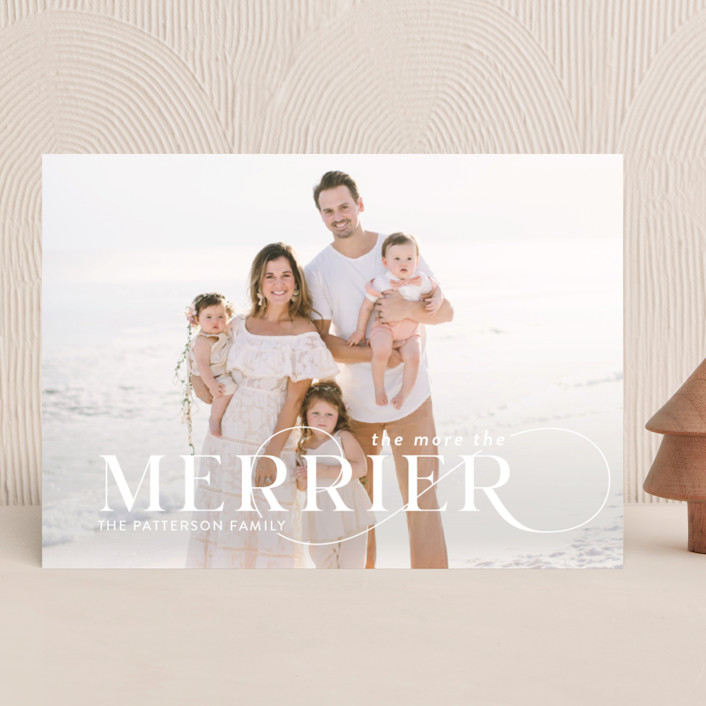 """More and Merrier"" - Christmas Photo Cards in Snow by Yaling Hou Suzuki."