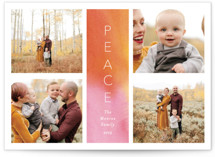 This is a orange photo christmas card by Lindsay Megahed called Peace Tower with standard printing on smooth signature in standard.