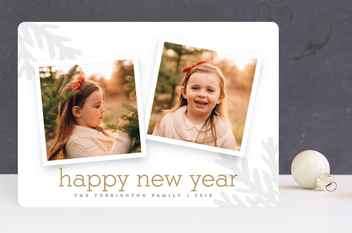 """Merry Branches"" - Bohemian Christmas Photo Cards in Ash by Stacey Meacham."