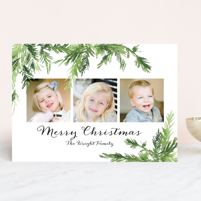 """""""In the Pines"""" - Christmas Photo Cards in Snow by Nikkol Christiansen."""