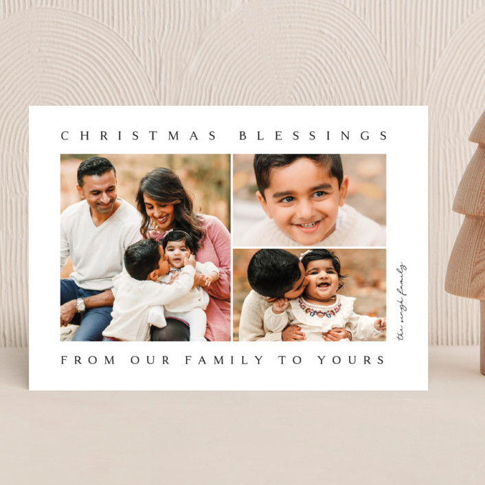 """""""family blessing"""" - Christmas Photo Cards in Ink by Kasia Labocki."""
