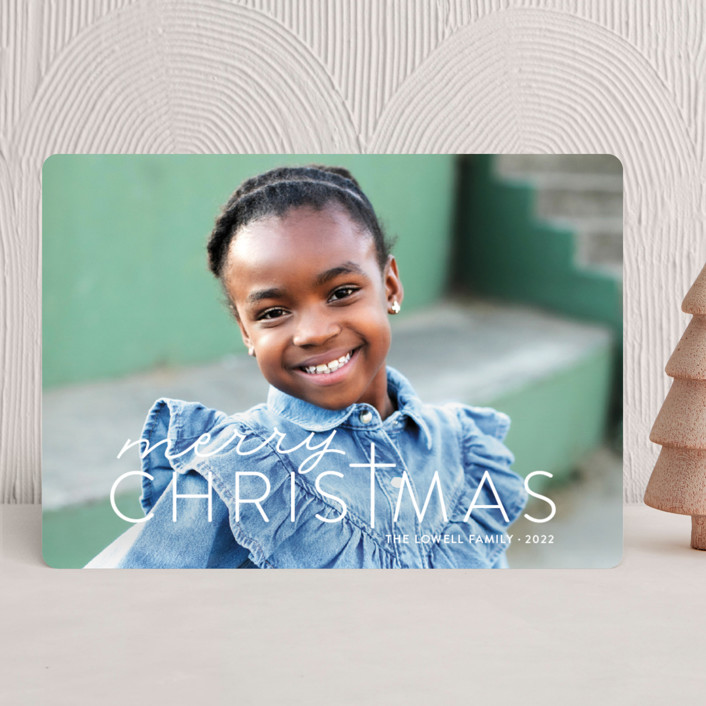 """Merry Crossmas"" - Christmas Photo Cards in Snow by Sarah Guse Brown."