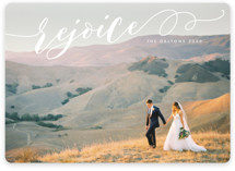 This is a white photo christmas card by Melanie Severin called Sweeping Rejoice with standard printing on smooth signature in standard.