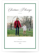 This is a green photo christmas card by Annie Shapiro called Elegant Frame with standard printing on recycled smooth signature in standard.