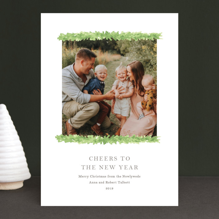 """""""Love is Christmas"""" - Christmas Photo Cards in Evergreen by Lagniappe Paper."""