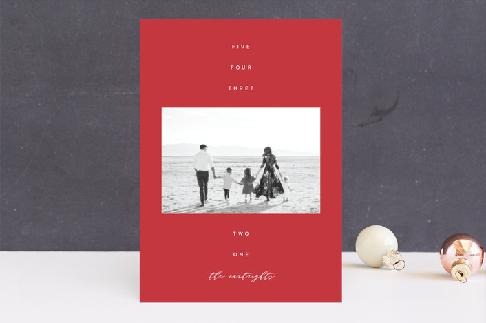 """""""His Name"""" - Christmas Photo Cards in Cranberry by The Carillos."""