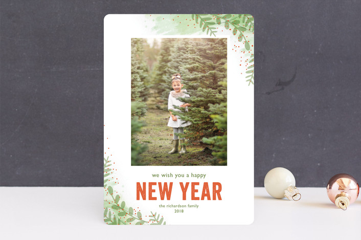 """Winter Sketchbook"" - Christmas Photo Cards in Frosty Fern by Lorent and Leif."