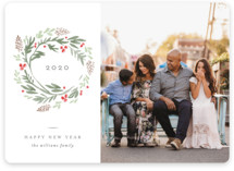 This is a green photo christmas card by Robert and Stella called Wondrous Wreath with standard printing on smooth signature in standard.