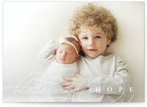 This is a white photo christmas card by Four Wet Feet Studio called Blessings of Hope with standard printing on smooth signature in standard.