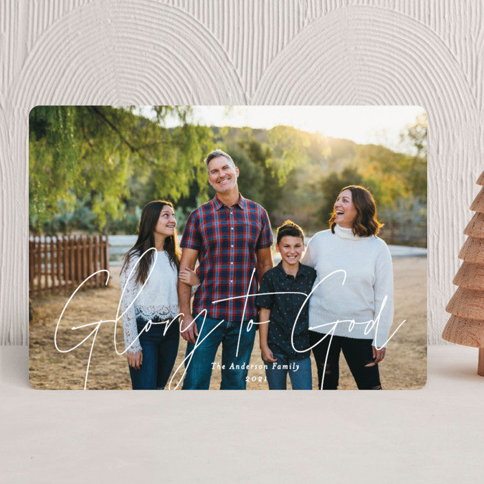 """""""Glorious Love"""" - Modern Christmas Photo Cards in Snowflake by Ana Sharpe."""