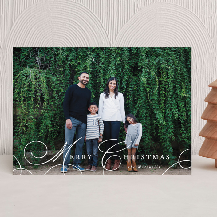 """""""Classy Christmas"""" - Christmas Photo Cards in Snow by Hooray Creative."""