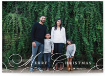 This is a white photo christmas card by Hooray Creative called Classy Christmas with standard printing on smooth signature in standard.