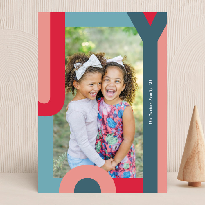 """""""Happy Hue"""" - Christmas Photo Cards in Ruby by Lauren Chism."""