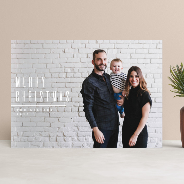 """Minimal"" - Christmas Photo Cards in Snow by Owl and Toad. COME BE INSPIRED by 7 Christmas Card Photo Hacks!"