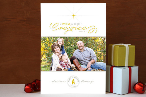 A Savior is Born Christmas Photo Cards