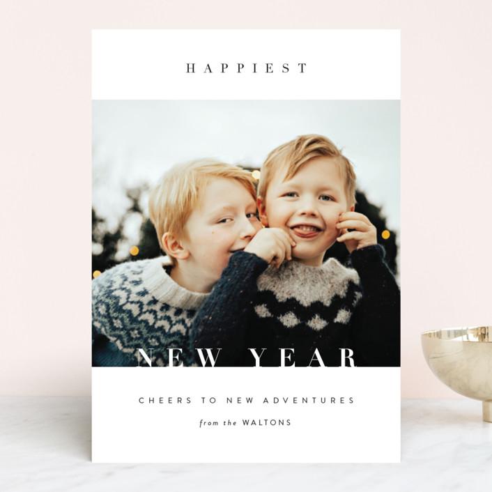 """Glory Glory"" - Christmas Photo Cards in Snowflake by Kasia Labocki."