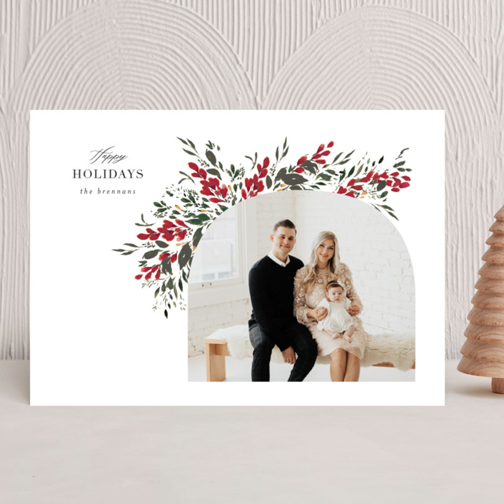 """""""Winters Meander"""" - Christmas Photo Cards in Crimson by Itsy Belle Studio."""