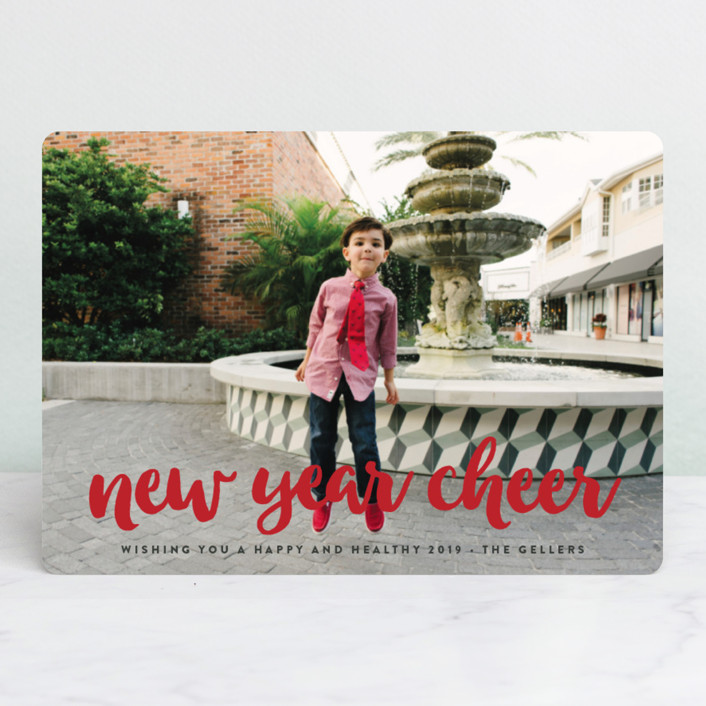 """what fun!"" - Christmas Photo Cards in Cardinal by Molly Wiggins."