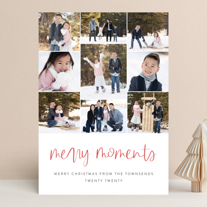 """""""Our Merry Moments"""" - Christmas Photo Cards in Candy Cane by Jessica Maslyn."""
