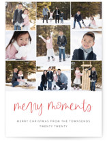 This is a red photo christmas card by Jessica Maslyn called Our Merry Moments with standard printing on smooth signature in standard.